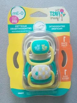 The First Years 0-3 Months Orthodontic Pacifiers Stage 1 2pa