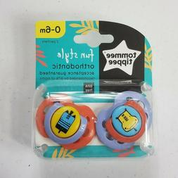 Tommee Tippee 0-6 Months Fun Style Orthodontic Pacifier 2 Pa