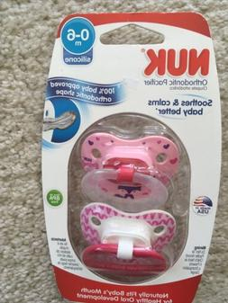 0 6 months orthodontic pacifiers 2 pack