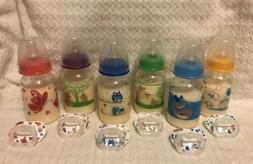 *1* Faux Fake Formula ONE Bottle N Pacifier Set U-Pick Color