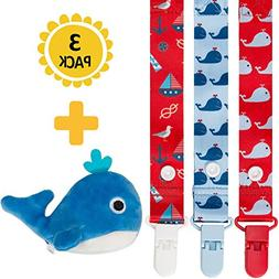 4-in-1 Pacifier Clips+Antibacterial Pacifier Holder by Moskk