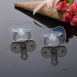 1 Pcs Newborns Baby Pacifiers Safety Soft Silicone Bite Gags