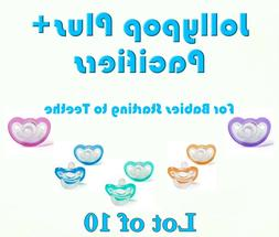 JollyPop Pacifier Plus+ 3+ mo Pick Your Color Baby Soothie