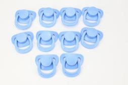 10pc Reborn Baby Blue Soothing Pacifier Accessories For Sili
