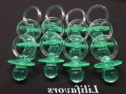 24 PCS  Pacifiers For Baby Shower GreenParty Decorations Boy