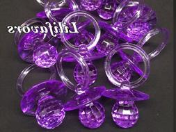 12PCS  Pacifiers For Baby Shower Purple Party Decorations Gi