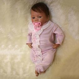 18inch Reborn Infant Doll Newborn Baby Doll Toy With Pacifie
