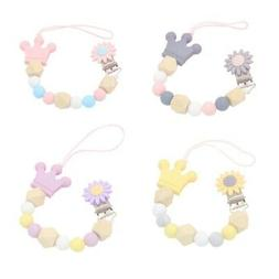 1pc Baby Silicone Pacifier Chain Clip Holder Nipple Leash St