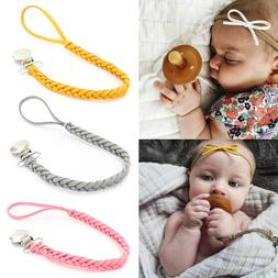1Pc New baby pacifier clip chain holder nipple leash strap p