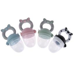 1Pc Teether silicone pacifier fruit feeder food nibbler feed