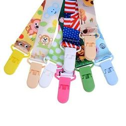 1X Baby Infant Pacifier Soother Nipple Ribbon Leash Strap Ch