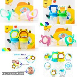 2 Count Baby Food Feeder, Fruit pouch Pacifier, Teething Toy