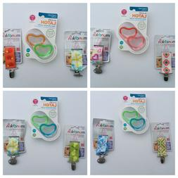 Munchkin 2 Lightweight Pacifiers, 3m, and 2 Pacifier Clips