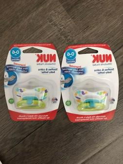 2 NUK Pacifiers 0-6 months SILICONE ~ NUK Gerber PACIFIER ~