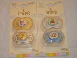 2 Pacifiers With Cover Sincerely POOH 0+ & 3+ Months The Fir