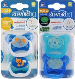 2 PACK - Dr. Brown's 6-12 Months Pacifiers