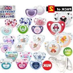 2-PACK NUK Dummy Pacifier teat nipple soother Baby Soothe  0