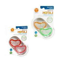 2 Pack Munchkin Latch Lightweight Orthodontic Silicone BPA F