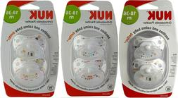 NUK® 2 pack ORTHODONTIC PACIFIER 18-26 month BPA free Silic
