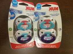 2  packs of 2 NUK Orthodontic Soft Silicone Pacifiers for Gi