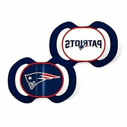 Baby Fanatic 2 Piece Team Colors Pacifier, New England Patri