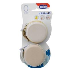 Chicco-2 Safety Clip Clap For Baby'S Dummy Soothers 0M+