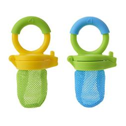 2 Set Baby Fruit Vegetables Meat Food Feeder Feeding Mesh Ju