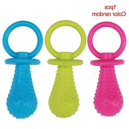 2 Size Pet Dog Bite Resistant Bell Rubber Pacifier Training