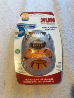 2 NUK Sports Orthodontic Pacifier Silicone 18-36 Months Foot