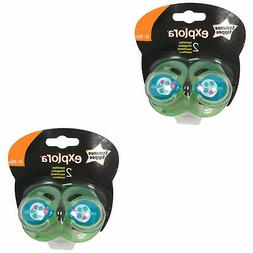 2 x TOMMEE TIPPEE Explora 6-18 month Baby Boy BPA Free Latex