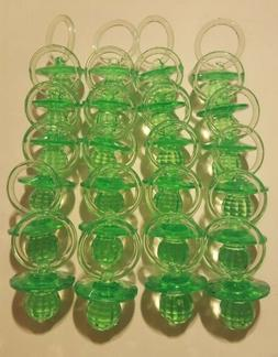 24pcs Green Pacifiers Baby Shower for Favors/games/Decoratio