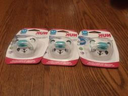 3 New NUK Orthodontic Pacifiers 0-6 months Silicone BPA Free