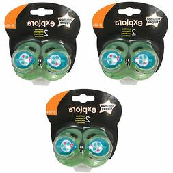 3 x TOMMEE TIPPEE Explora 6-18 month Baby Boy BPA Free Latex