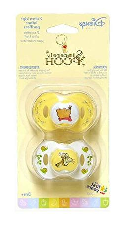 4 Pacifiers Sincerely POOH 3+ mo The First Years NEW