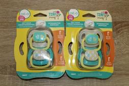 4 Pack The First Years 0-3 Months Orthodontic Pacifiers Stag