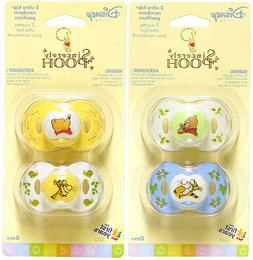 4 Sincerely Disney Baby Infant WINNIE THE POOH Pacifiers 0+