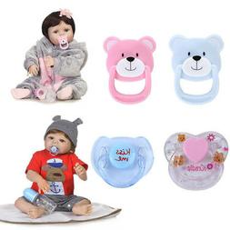 4PCS New Dummy Pacifier For Reborn Baby Dolls With Internal