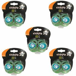5 x TOMMEE TIPPEE Explora 6-18 month Baby Boy BPA Free Latex