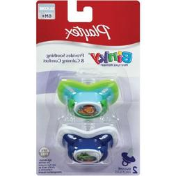 Playtex 6 mo 2 Pack Ortho- Pro Silicone Binky Pacifie - Cher