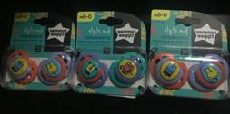 6 Tommee Tippee Pacifiers  Closer to Nature Perfect For Baby
