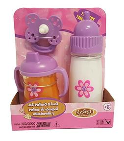 DREAM COLLECTION 63248 Toy Baby Feeding Set Talking Baby Bot