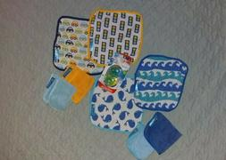 8 Baby Washcloths & 2 Glow-in-the-dark Pacifiers  *NEW*
