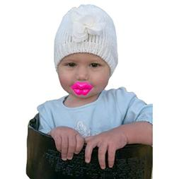 Mommy's Touch Pink Kiss Pacifier For Babies and Toddlers. Fu