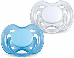 Philips Avent Orthodontic Pacifier, 0-6 Months, Free Flow, B