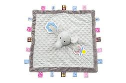 Snuggin - Tag Blanket with Stuffed Elephant Plus Pacifier/Te
