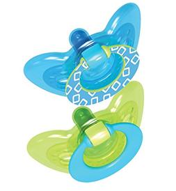 The First Years GumDrop Pacifier - Blue/Green - 6 - 18 Month