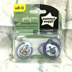 Tommee Tippee Every Day Pacifier 0-6 Months 2 Pack - Clear