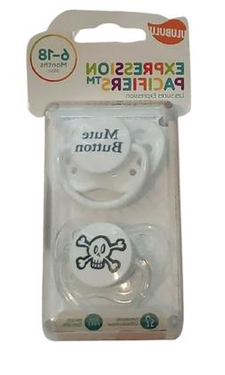 Ulubulu Expression Pacifier Set, Unisex, Mute Button and Pul