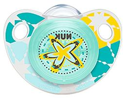 NUK Adore Baby Pacifier 0-6 Months Silicone Unisex Yellow Bl
