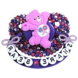 "Baby Bear Pacis Adult Pacifier ""Share Bear"" Dark Purple Care"